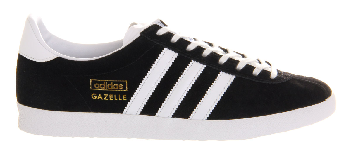 Adidas Originals Men s Gazelle OG Vintage Black Suede Leather Casual Shoes  Trainers 41ff9497aa7